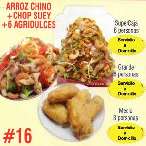 Arroz Chino mas Chop Suey Numero 16